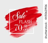 special flash sale 70  off sign ... | Shutterstock .eps vector #445063906