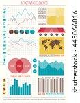 infographic elements  internet... | Shutterstock .eps vector #445066816