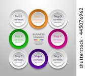 circle timeline template for... | Shutterstock .eps vector #445076962