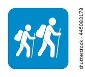 hiking icon illustration... | Shutterstock .eps vector #445083178