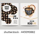 vector set of modern posters... | Shutterstock .eps vector #445090882