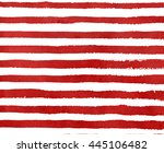 watercolor red stripe grunge... | Shutterstock . vector #445106482