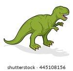 dinosaur tyrannosaurus rex.... | Shutterstock .eps vector #445108156