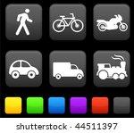 transportation icon on internet ... | Shutterstock .eps vector #44511397