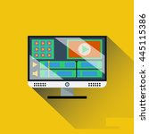 vector image of monitor with... | Shutterstock .eps vector #445115386