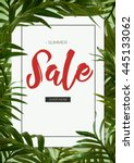 brilliant summer sale template... | Shutterstock . vector #445133062