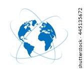 vector globe icon of the world | Shutterstock .eps vector #445135672