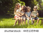 Four little friends have good time together