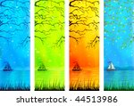 natural lake scenery banners...   Shutterstock .eps vector #44513986