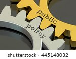 public policy concept on the... | Shutterstock . vector #445148032