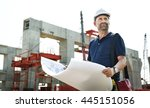 architect outdoors working... | Shutterstock . vector #445151056