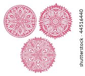 set of cute  circle ornament... | Shutterstock . vector #44516440