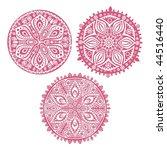 set of cute  circle ornament... | Shutterstock . vector #44516440