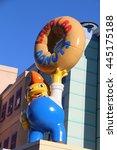 Small photo of Los Angeles, California, USA - November 22, 2015: Lard Lad Donuts is Springfield's favorite purveyor of sweet treats at Universal Studios Hollywood.