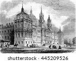 the palace of mafra  near... | Shutterstock . vector #445209526