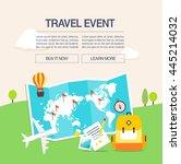 summer travel illustration | Shutterstock .eps vector #445214032