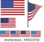 american flag vector... | Shutterstock .eps vector #445215742