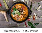 spicy soup traditional food... | Shutterstock . vector #445219102