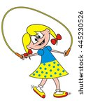 girl and rope  vector icon | Shutterstock .eps vector #445230526