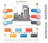 industry info graphic design on ... | Shutterstock .eps vector #445239355
