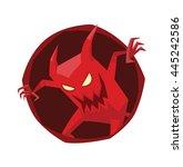 vector image of a round dark... | Shutterstock .eps vector #445242586