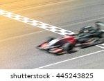 motion blur  race car racing on ... | Shutterstock . vector #445243825