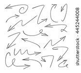 vector hand drawn arrows | Shutterstock .eps vector #445244008