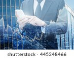 double exposure of professional ... | Shutterstock . vector #445248466