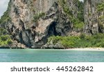 limestone island  with white... | Shutterstock . vector #445262842