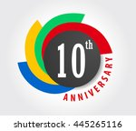 10th anniversary celebration... | Shutterstock .eps vector #445265116