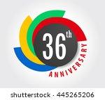 36th anniversary celebration... | Shutterstock .eps vector #445265206