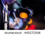 Saxophone Player With Bokeh...