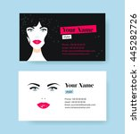 set of horizontal cosmetic... | Shutterstock .eps vector #445282726
