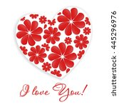 card with heart and inscription ...   Shutterstock . vector #445296976