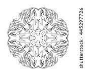 mandala ornament  vector... | Shutterstock .eps vector #445297726