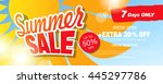 summer sale banner. vector... | Shutterstock .eps vector #445297786