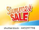 summer sale banner. vector... | Shutterstock .eps vector #445297798
