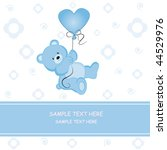 postcard teddy love | Shutterstock .eps vector #44529976