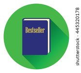 bestseller book icon. flat...