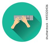 typing icon. flat color design. ...