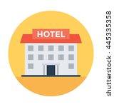 hotel building vector...   Shutterstock .eps vector #445335358
