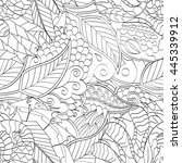 tracery seamless calming... | Shutterstock .eps vector #445339912