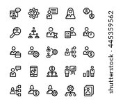 human resources vector icons 1   Shutterstock .eps vector #445359562