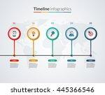 timeline infographic template... | Shutterstock .eps vector #445366546