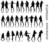 collection of female... | Shutterstock . vector #445366918
