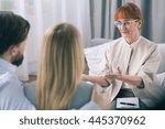 psychotherapist explains...   Shutterstock . vector #445370962