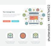 flat line business concept... | Shutterstock .eps vector #445376422