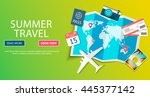 trip to world. travel to world. ... | Shutterstock .eps vector #445377142