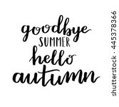 Goodbye Summer Hello Autumn....