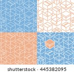 box   wrapping   package ... | Shutterstock .eps vector #445382095